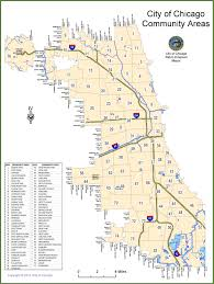 Map Of City Of Chicago by Chicago Community Areas Map