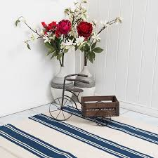 Blue And White Striped Rugs Uk Breton Stripe Rug In Navy Blue U0026 White Modern Striped Cotton Rug
