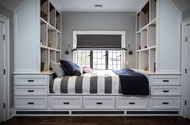 Twin House Plans Gorgeous Twin Captains Bed In Kids Transitional With Interior