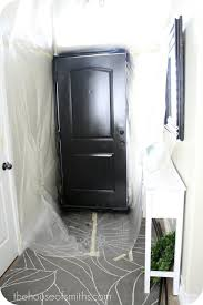 Black Interior Paint Painting Our Entryway Door Black