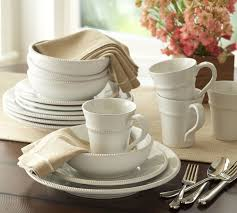 The White China Barn Gabriella 16 Piece Dinnerware Set Pottery Barn