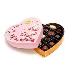 heart box of chocolates s day paper heart chocolate gift box 14 pc godiva
