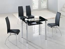 Small Glass Dining Room Tables Rimini Small Black Glass Top Dining Table Dining Table Design