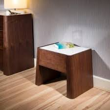 bedroom mid century modern bedside tables with colorful drawers