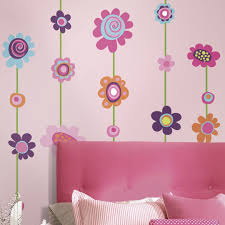 Amazon Home Decor by Roommates Rmk1622gm Flower Stripe Peel Stick Giant Wall Decal