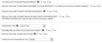 wedding registry options create an online wedding registry with my registry tips for