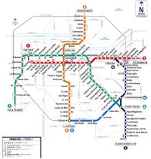 L Train Chicago Map by Metro De Santiago De Chile Map Transit Maps Worldwide