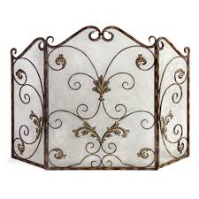 filament design lenor 33 5 in bronze wrought iron fireplace