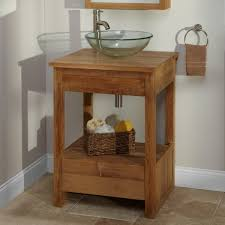 Round Bathroom Vanity Brilliant Small Bathroom Vanity With Vessel Sink Using Round Glass