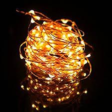 hde waterproof led string lights copper