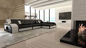 kopfstã tze sofa sofa arezzo l form schwarz weiss ledersofa biz