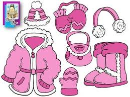 winter clothes coloring page winter clothes coloring pages clip