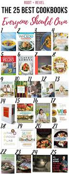 best cookbooks the 25 best cookbooks everyone should own root revel