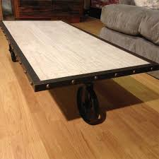 furniture home vintage industrial factory cart coffee table with