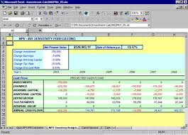 Sensitivity Analysis Excel Template Npv Excel Spreadsheets Investment Forecasts