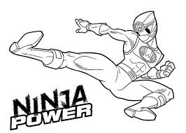 ninja power rangers coloring color luna
