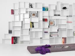 stunning modern shelving units furniture with cube open plan
