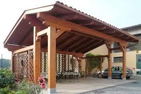 tettoia auto legno tettoie in legno pergole tettoie giardino le migliori tettoie