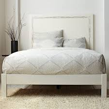 Bed Frame White Simple Bed Frame West Elm
