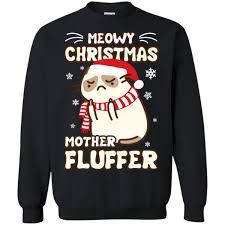 meowy christmas meowy christmas fluffer shirt hoodie teecentury