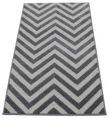 Black And White Zig Zag Rug Chevron Runner Contemporary Hall And Stair Runners By Cozy Rugs