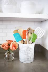circa white ceramic kitchen utensil holder throughout white