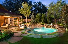 Pretty Backyard Ideas Triyae Com U003d Large Backyard Pool Ideas Various Design