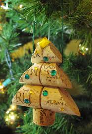 wine cork christmas tree ornament keep drinking crazy for