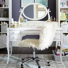 lilac desk u0026 vanity mirror hutch pbteen