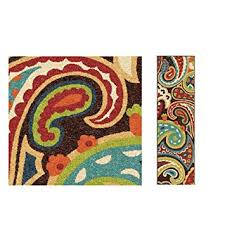 Floral Runner Rug 1 Indoor Outdoor Rainbow Floral Runner Rug