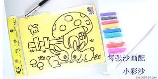 100pcs lot diy toys color sand painting set kit for children 21
