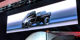 concept semi truck tesla unveils first image of its electric pickup truck and it