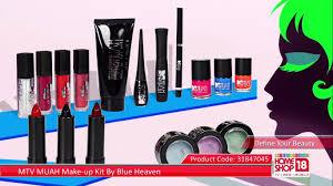 homeshop18 com mtv muah make up kit by blue heaven youtube
