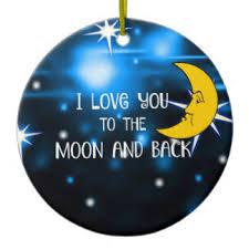 moon back tree decorations ornaments zazzle co uk