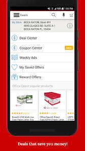 office depot rewards u0026 deals on office supplies android apps