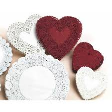heart shaped doilies heart shaped paper lace doilies 4 pack of 100 white walmart