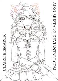 line art for coloring by aiko mustang on deviantart