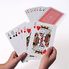 amazon com super jumbo playing cards toys u0026 games