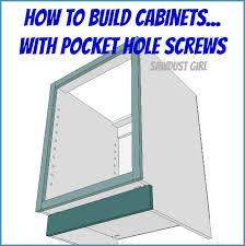 how to build base cabinets with kreg jig how to build a cabinet with pocket screws sawdust