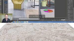 vrayfur learn to design a ligne roset carpet in 3ds max