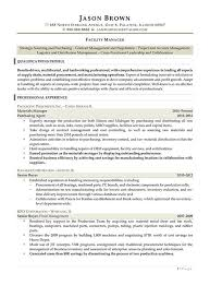 Facility Manager Resume Management Resume Examples Resume Professional Writers