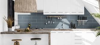 white kitchen cabinets with blue subway tile subway tile collection subway tiles in