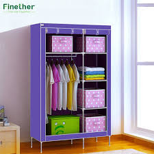 Wardrobe Cabinets Online Shop Finether Double Modular Metal Framed Wardrobe Cabinets