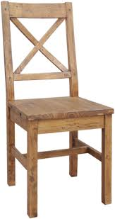 camrose reclaimed pine cross back dining chair wooden seat the