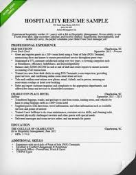 How To Write Resume Example by Hospitality Resume Writing Example Hospitality Resume Writing