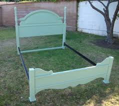 shabby chic french provincial bed frame in mint green