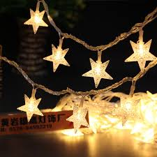 battery operated star lights 10 led battery powered star shaped string light led fairy light home