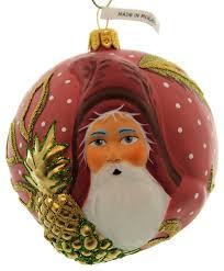 vaillancourt folk jingle balls floral glass ornament