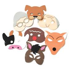 the gingerbread man storytelling masks from early years resources uk