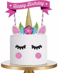 happy birthday cake topper get the deal 1set unicorn cake topper happy birthday candle